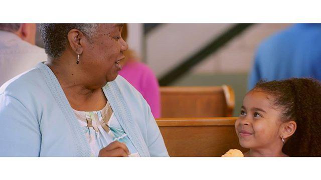 A moment between Grandma & Granddaughter.