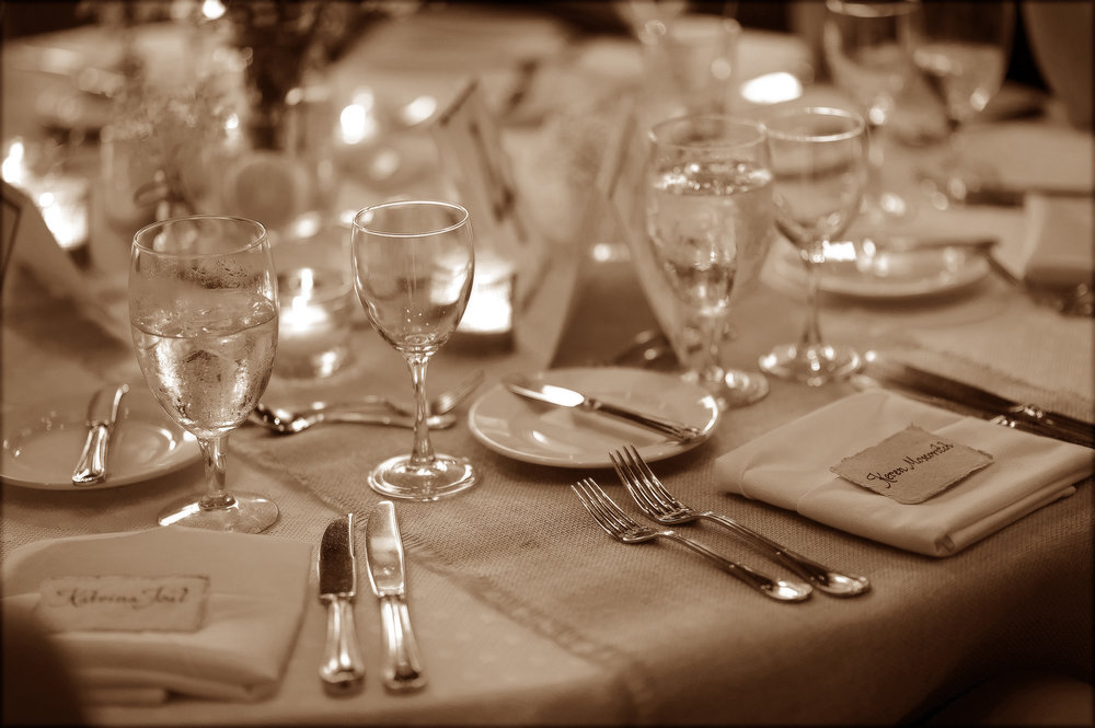 Close-Up on the Place Settings