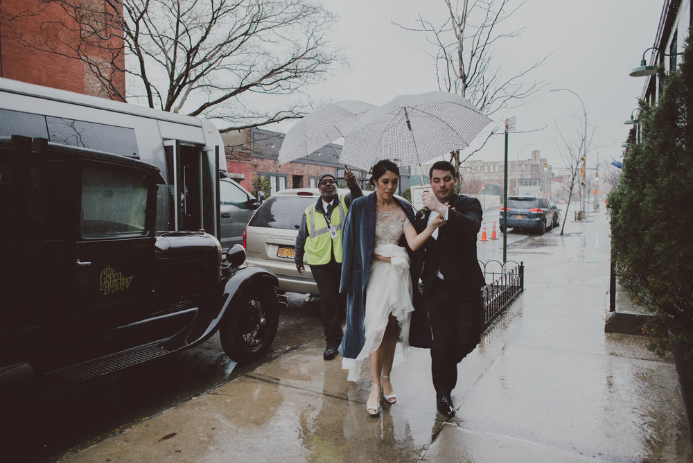 Brooklyn Wedding Arrivals