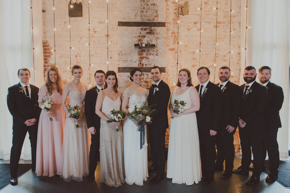 Green Building Wedding Bridal Party