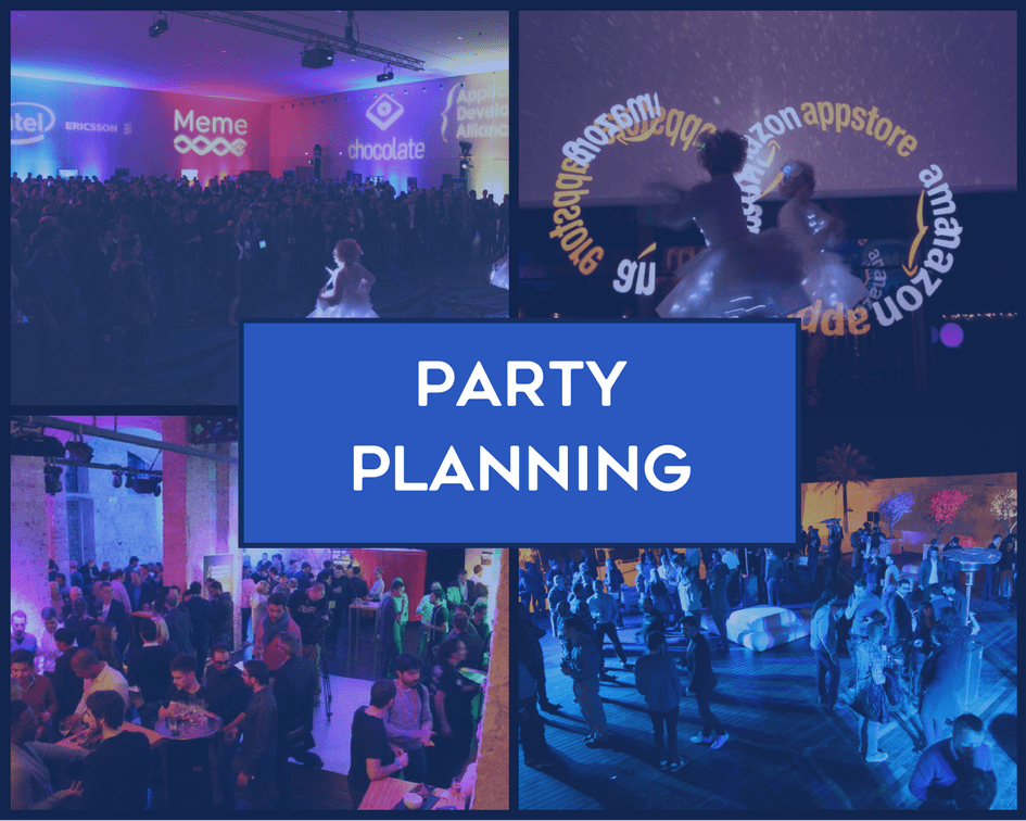 • Venue Coordination • Logistics Management • Attendance Strategy • Marketing & Promotion • Collateral & Custom Branding