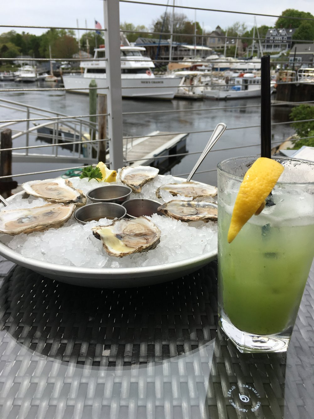 4.David's KPT (Rehearsal Dinner + Lodging) - David's KPT is acclaimed Portland Chef David Turin's restaurant located in the Boat House hotel. The restaurant is right on the water in downtown Kennebunkport and is incredibly convenient. Private events with guests of 80 or more require a buy out of the entire restaurant, but you can host a cocktail party for up to 28 people, or a seated dinner for 20 in the oyster bar. In addition, the outdoor patio lounge is a terrific place to meet your wedding guests for drinks the night before. The restaurant does have a chartered boat dock that you can use, should you chose to arrive in style on a sea vessel!p.s. The oysters are on point.