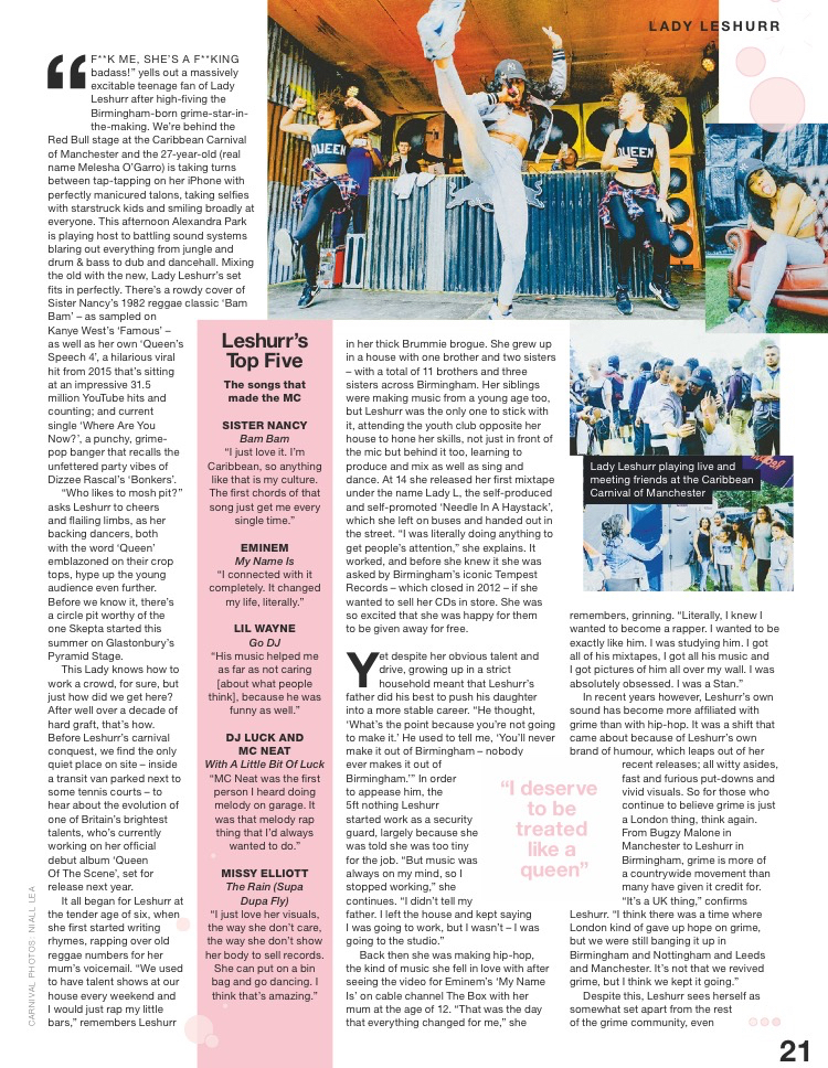 Lady Leshurr NME Feature p21 (26:8:16).jpg