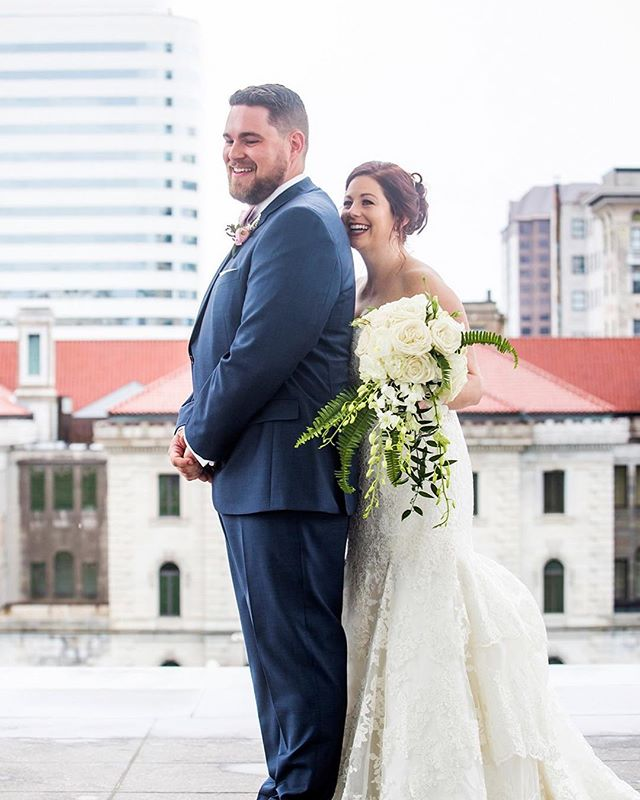 """#And I fell for you like rain drops"""" -Pavana  It rained ALL day on Kyle and Catherine's wedding day.  The smiles on their faces in this moment shows the rain wasn't going to stop the show. And it didn't; it was a PERFECT day!"""