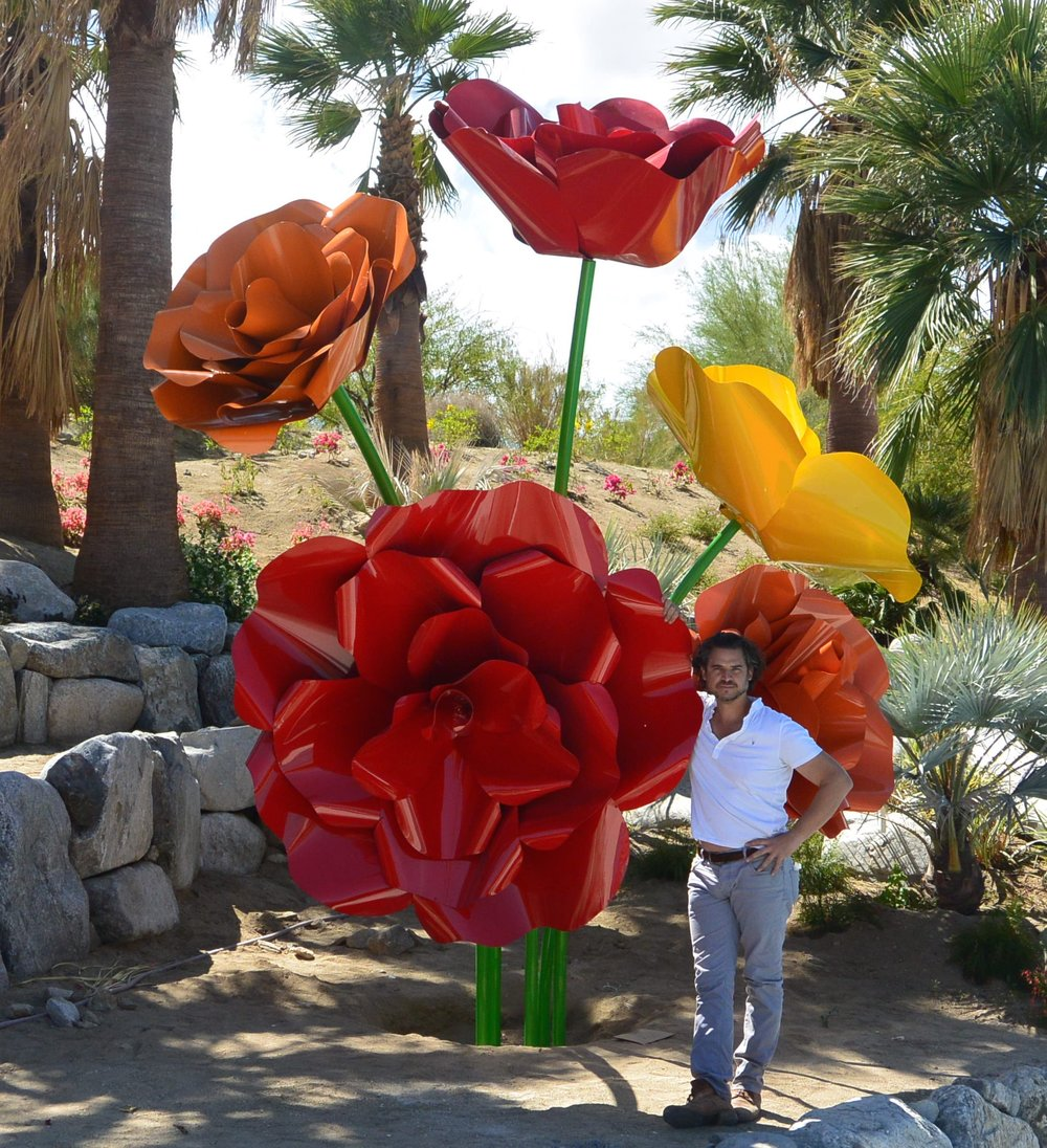 Powder Coated Steel ROses in the Desert.jpg