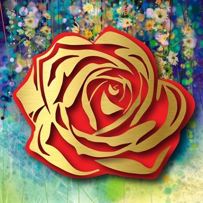 """Floral Rose  48 x 48"""""""
