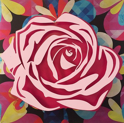 Kaleidoscope Rose  48 x 48""