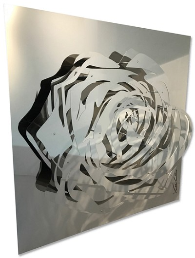 Chrome Rose  48 x 48""