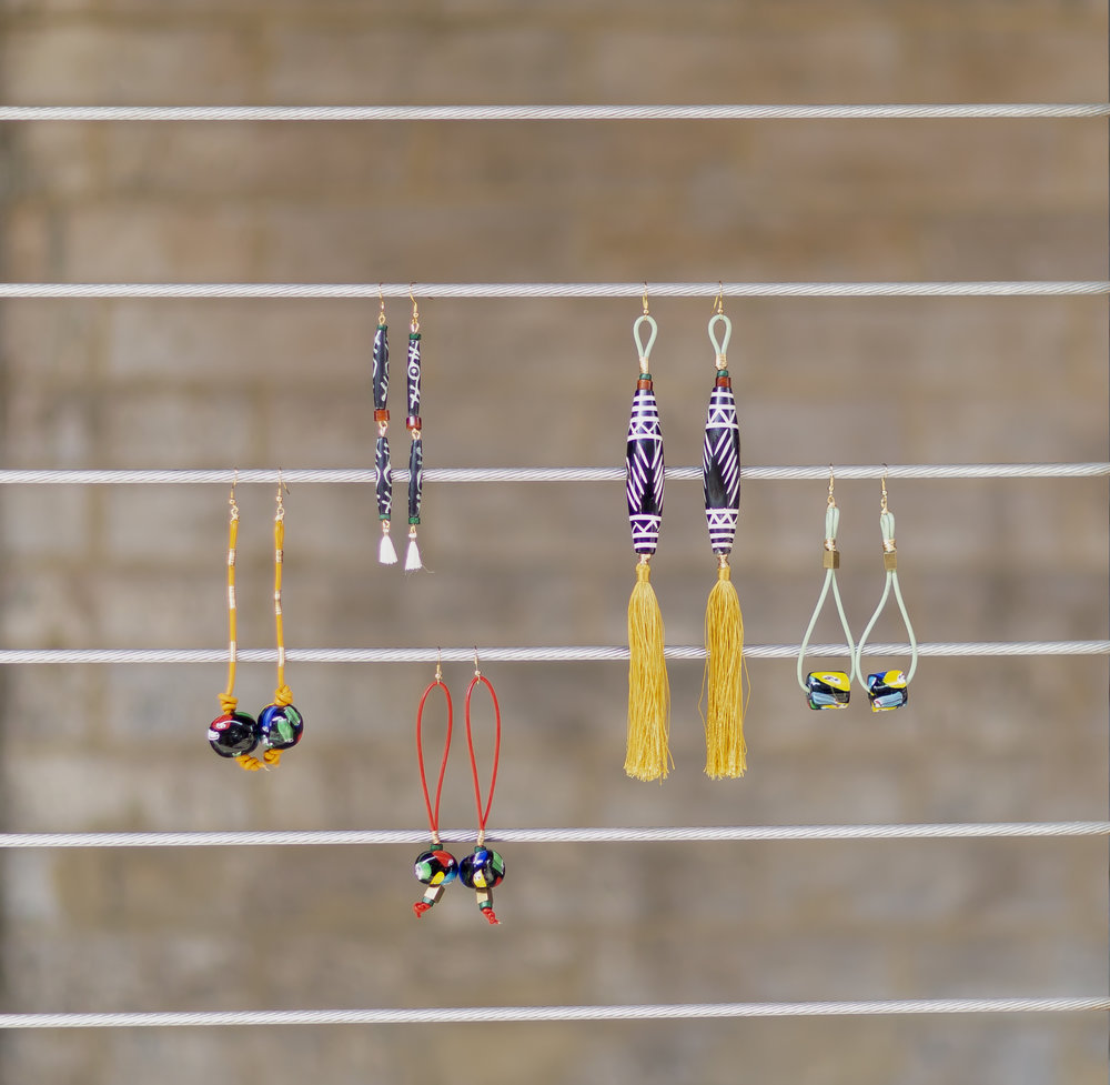 Sol earrings in Meatpacking District