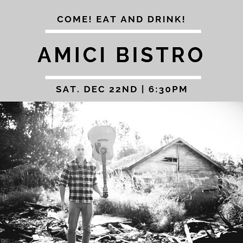 If you're looking for something to do this weekend, come down to Amici Bistro in Mukilteo for some awesome Italian food and wine. I'll be playing tomorrow evening starting at 6:30 and I'd love to see you there!