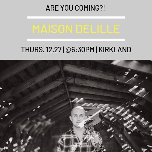 Maison Dellille. Tonight. 6:30pm. See you there! • • • • #music #performer #guitarist #guitar #singer #musictherapy #coversong #pnwmusic #livemusic #guitarlife #acoustic #vocals #bluesguitar #blues #songwriter #songwriting #vocalist #guitarsdaily