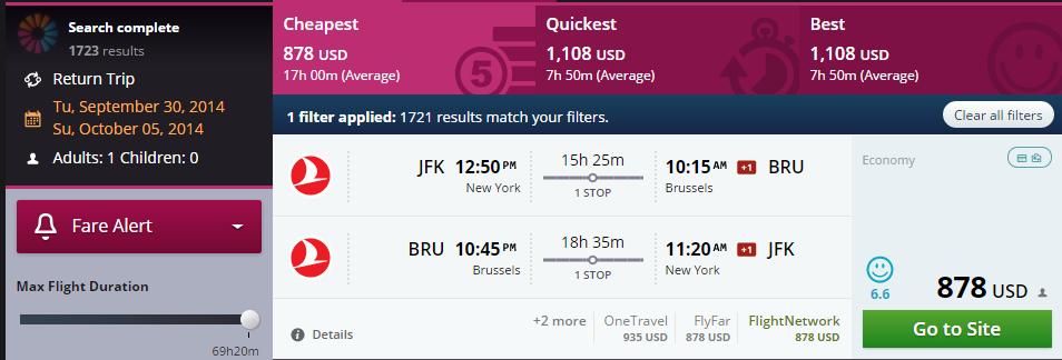 Flight I paid 730