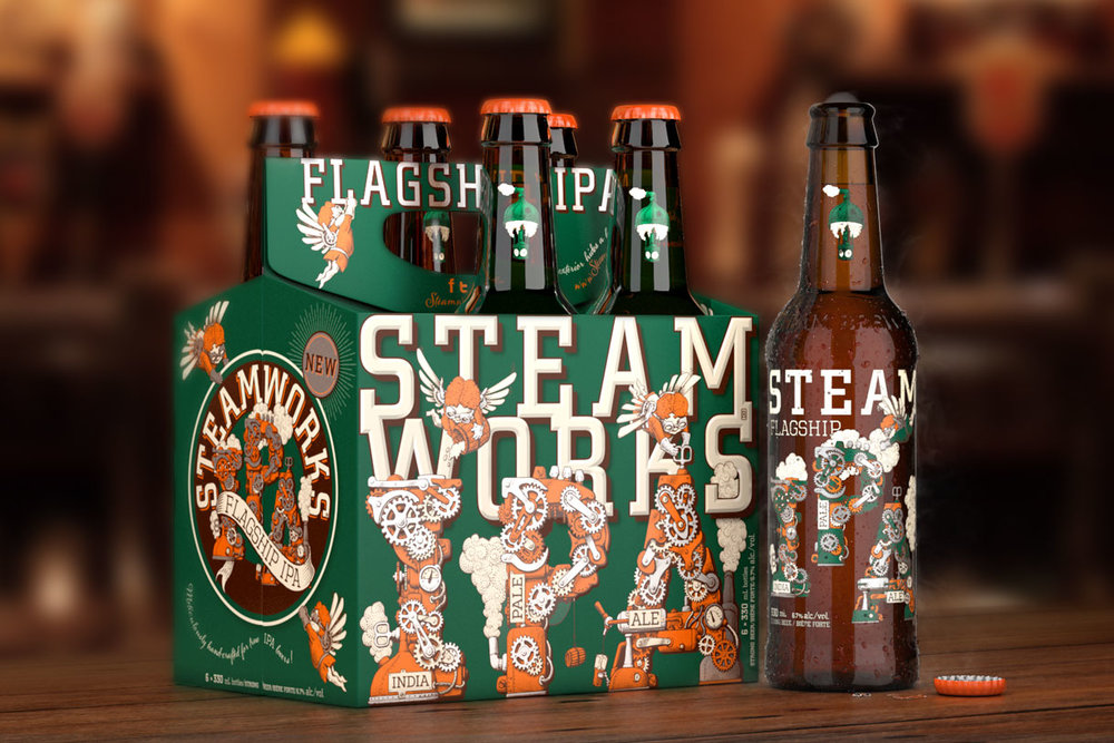 Steamworks latest IPA. Image by  Outshinery