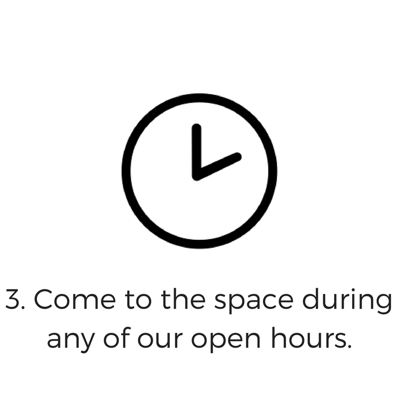 After the training, you may come to the space during any of the Open Hours. Bring projects, use the 3D printers or stop by to collaborate with other makers.(Additional training is required for the Laser Cutter and CNC Machine.)