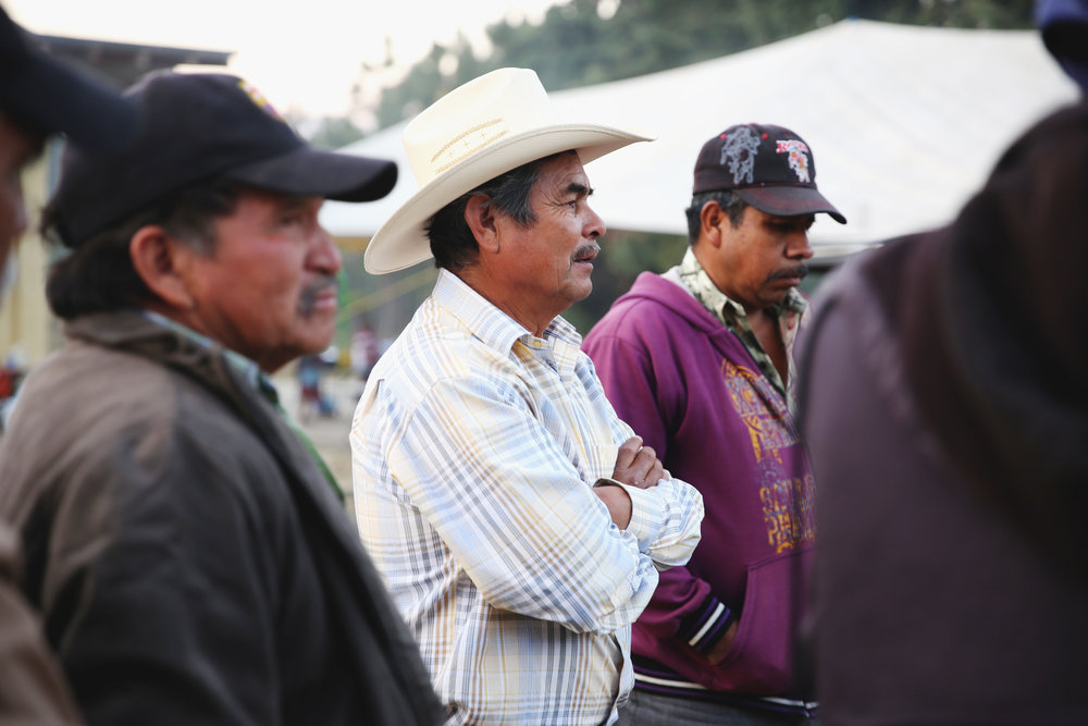 Signor Delfino de la Paz Guzman, of Nicol·s Romero community