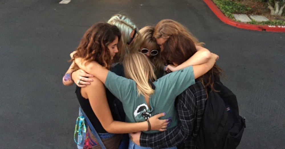 Catherine Canann Surf Posse Group Hug