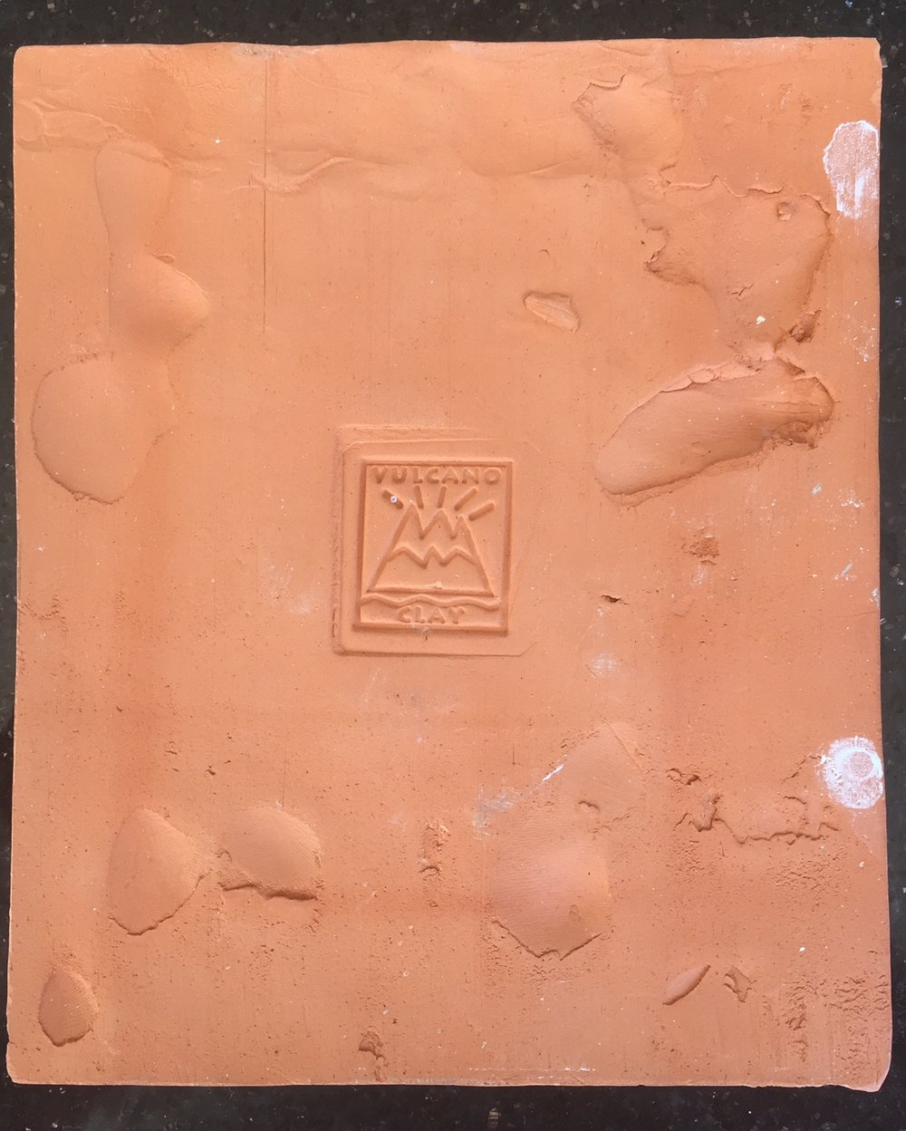Hand Made - Back of Tile produced Vulcano Clay