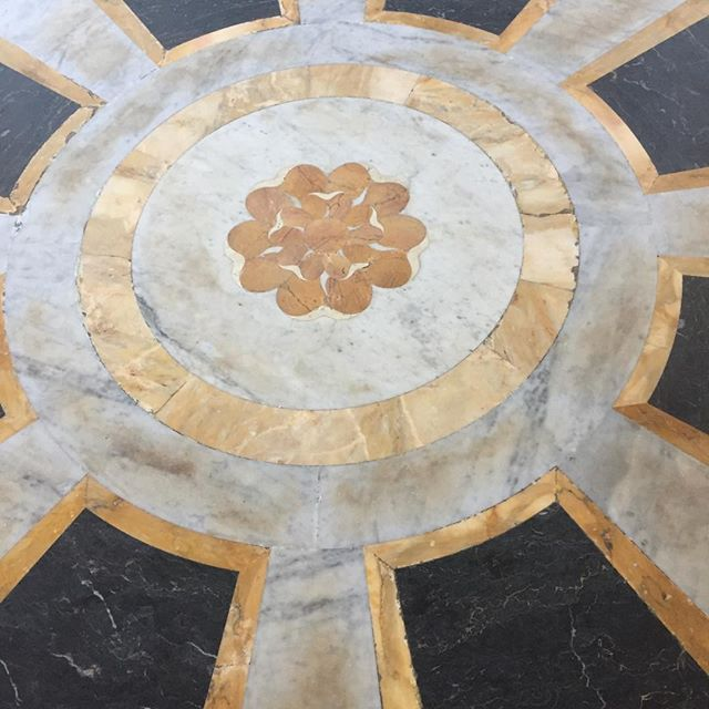 Rose in the Portico of Rose in the portico of basilica di san giovanni in laterano, Rome. The black and gold is perfect, and perfect for 2017, VULCANO stone Mosaic collection!