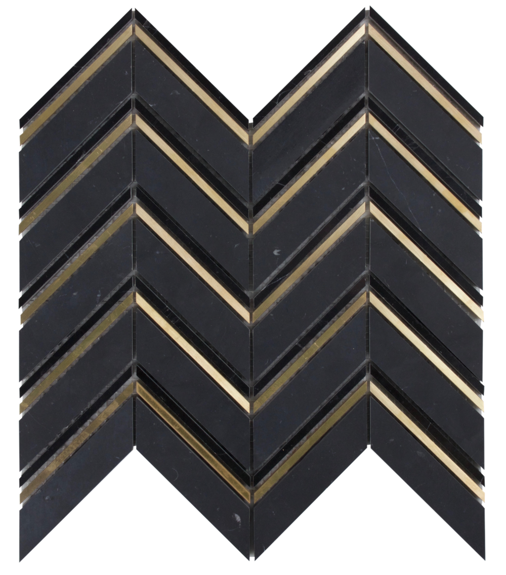 Nero Marquina & Brass              **Available to Showroom Partners only**