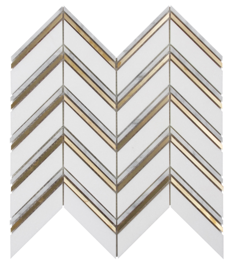 Thassos,Carrara & Brass            **Available to Showroom Partners only**