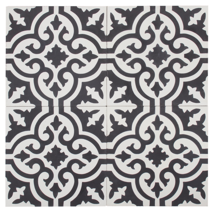 Black & White Flower Pattern