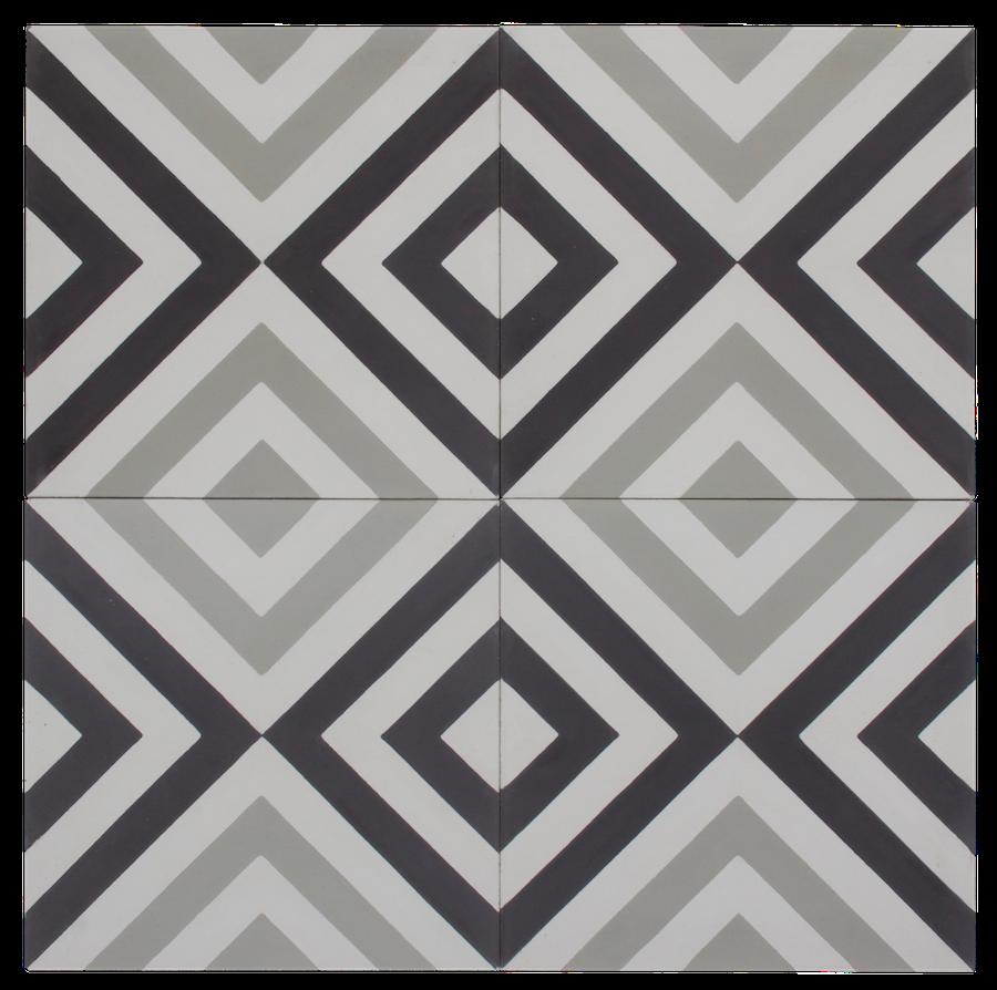 Black, Grey & White Inward Arrow