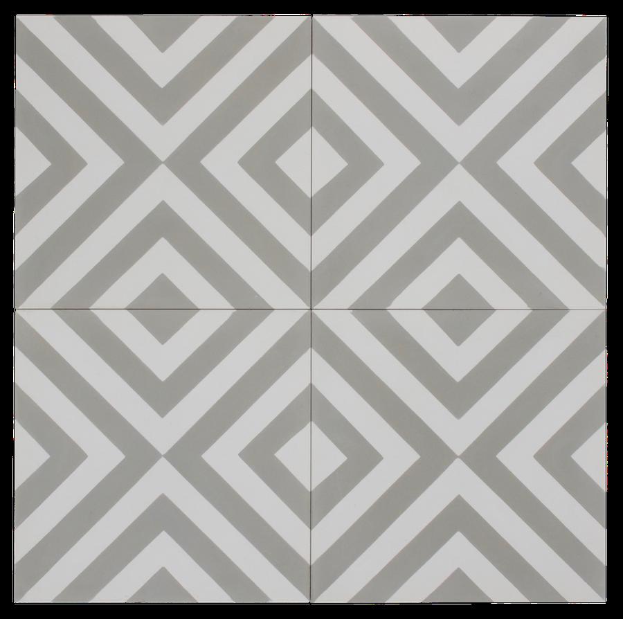Grey & White Inward Arrow