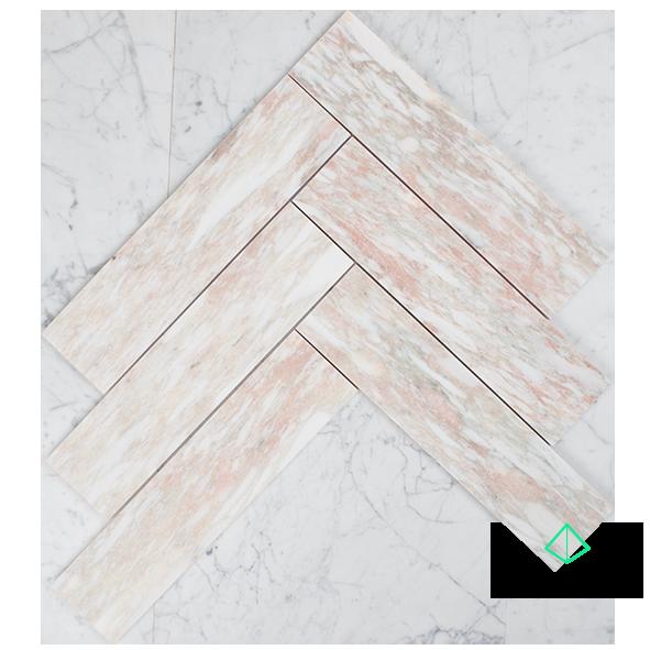 Fiori Rosa - 305 x 75mm Subway Tile