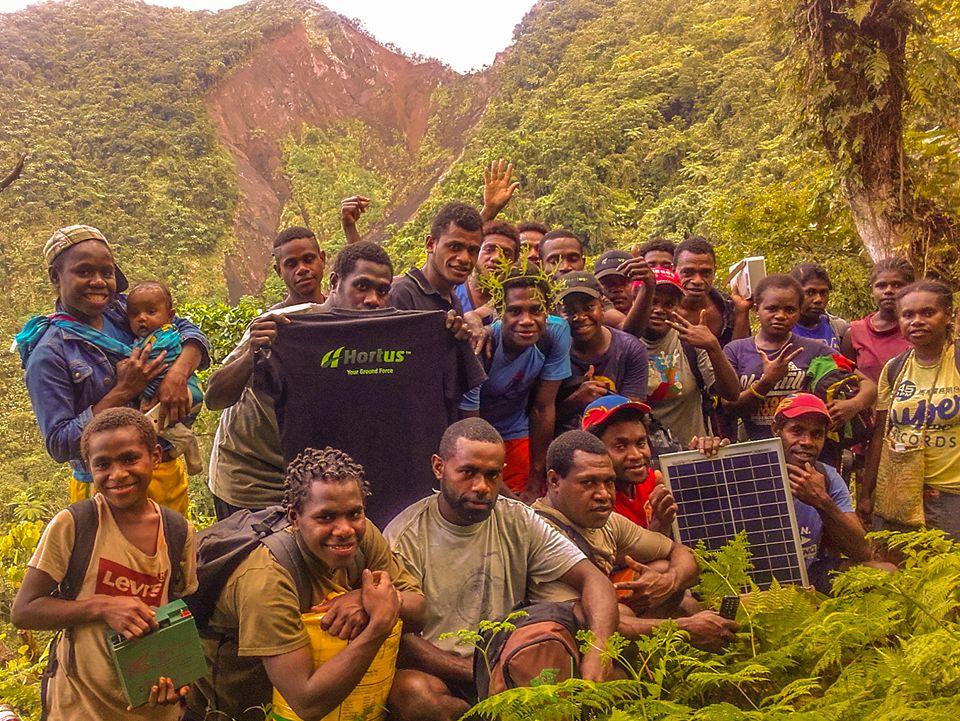 New solar panels in the Santo bush