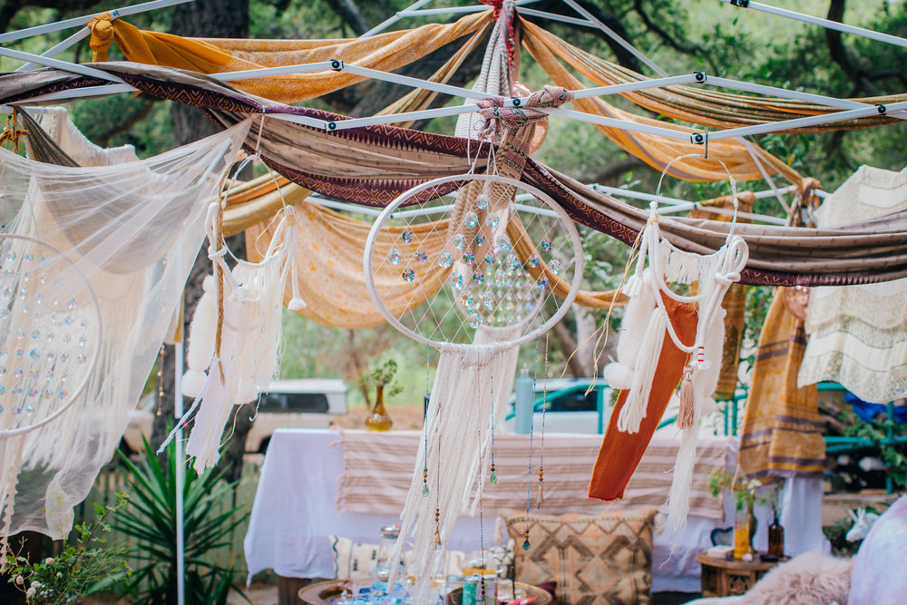 MoonCloth Hemp Goddess Oasis Pop-Up Shop Lifestyle Products at the Harmony Gathering with Future Eyes