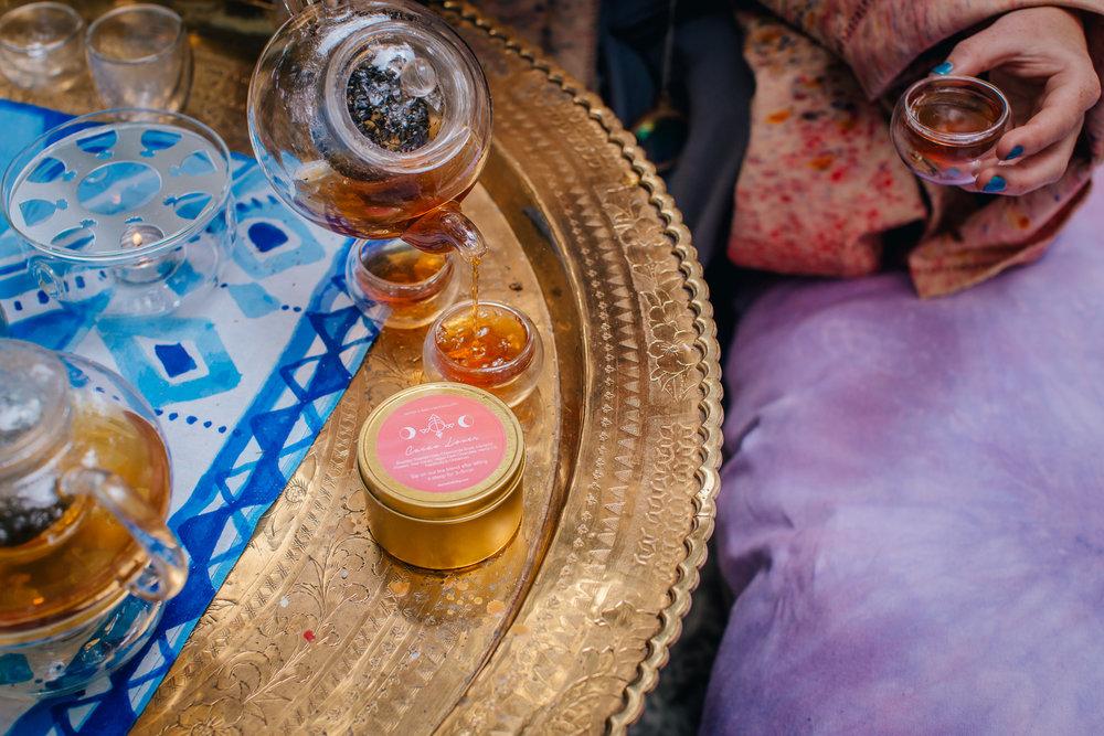 CBD Tea Cacao Ceremony Yerba Mate MoonCloth x Water + Bird