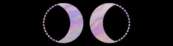MoonCloth oil slick moons technicolor hemp purple moons