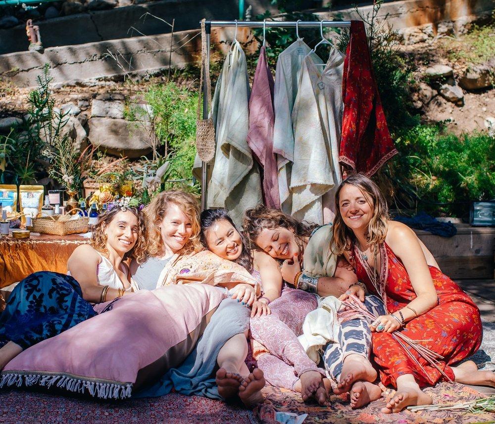 Moon Cloth Hemp Lifestyle Shop - kaley elizabeth, sarah harf, jess lee, kelsey roenau, gina baiamonte