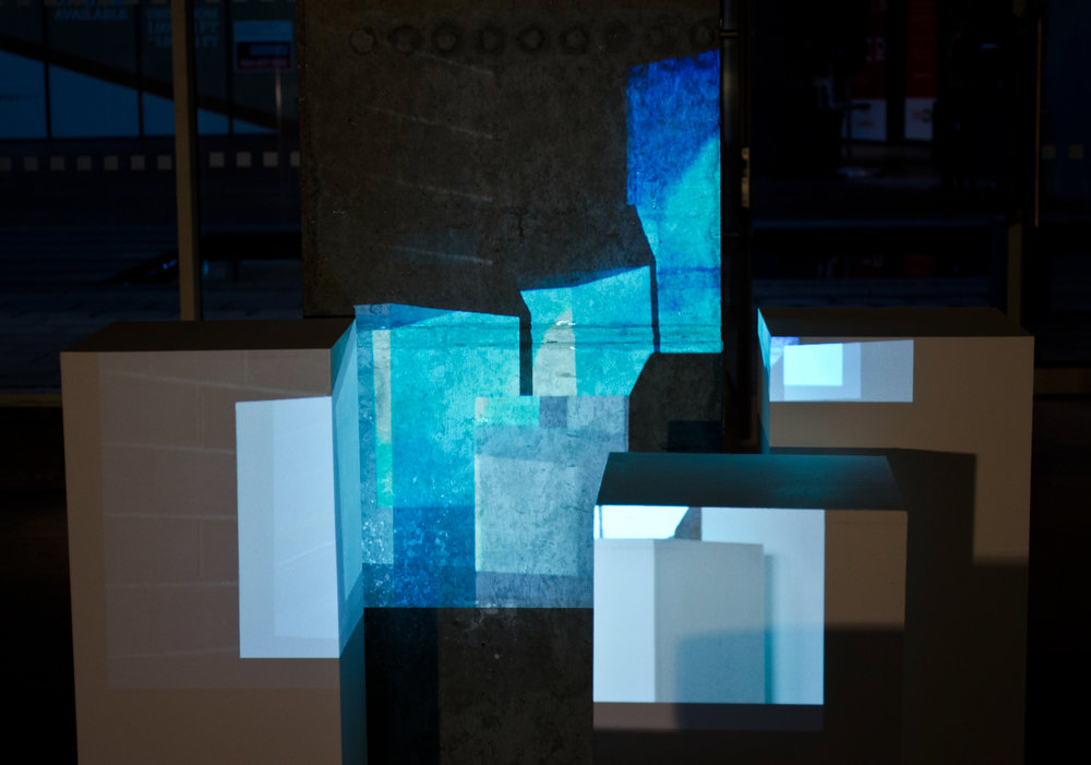 Holly Rowan Hesson,  Interrupt , 2013, projection (series of 47 stills), plinths, dimensions variable