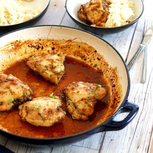 sticky honey glazed garlic chicken! - Lunch, Dinner