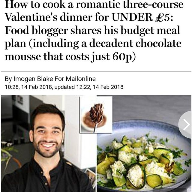 Wooohooo made it into the Press with my three-course Valentine's meal for £5.00!! If you want to make this romantic meal the recipes are online now (link in bio). Happiest of Valentine's to you and your loved ones, Lim Xx . . . . . . . . #tinybudgetcooking #mealplan #romance #foodie #meal #eeeeeats #hungry #delish #delicious #nomnom #love #family #valentinesday #beauty #picoftheday #hot #recipe #moneysaving #instafood #instapic #yes #foodgasm #foodgram #foodporn