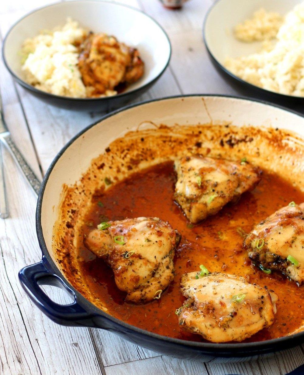 Honey Garlic Chicken with Aromatic Rice