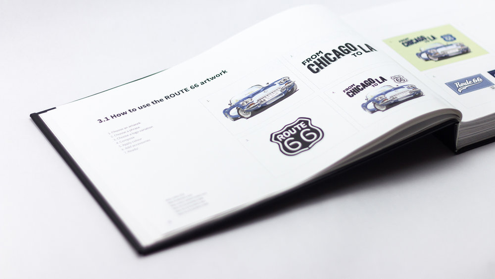 Bisigned ROUTE 66 Style Guide Artworks