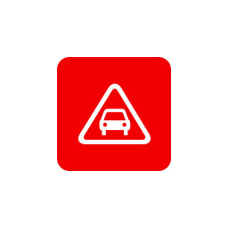 Bisigned Safety Lens ADAS Alert Icon
