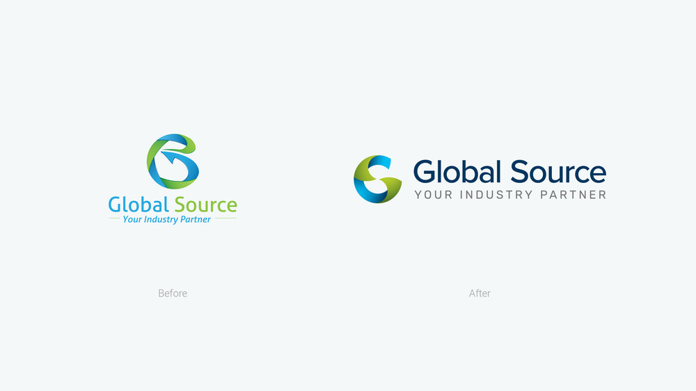 Global Source Logo Before & After