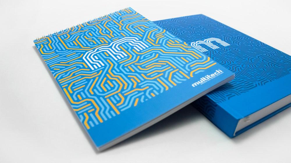 Bisigned - Multitech brand identity design - Stationery design - Notebook design