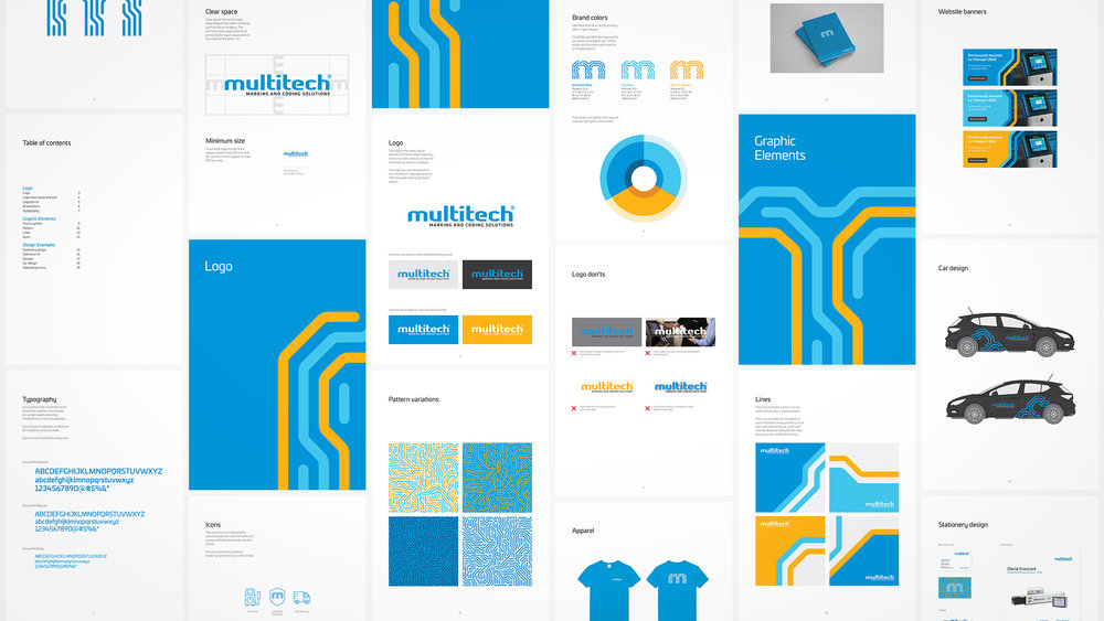 Bisigned - Multitech brand identity design - brand identity guidelines