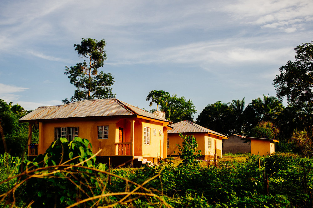 Some of our accomdation right in the middle of a jungle