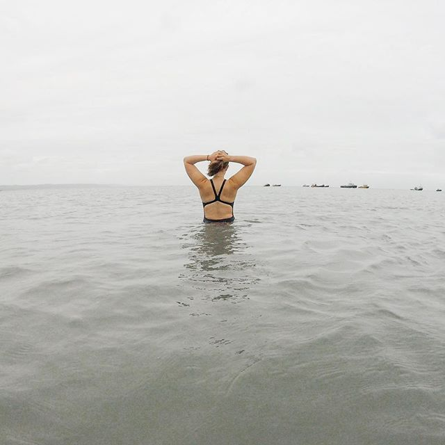 Hair up, cossie on, toes numb but feeling the happiest human ever.  Wild swimming is literally one of my favourite things to do, I love that it's so cold you have to take a big in take of breathe when entering. It makes you feel alive and when your near the sea you can swim for free!