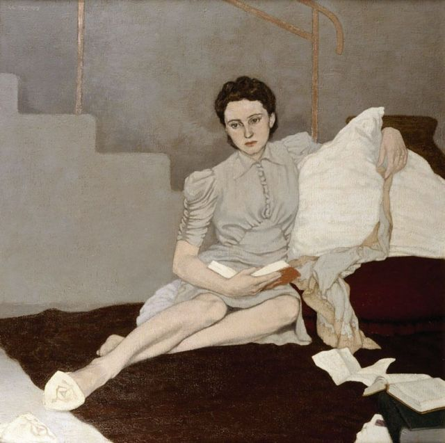 Girl in Grey  (1939) by Louis le Brocquy