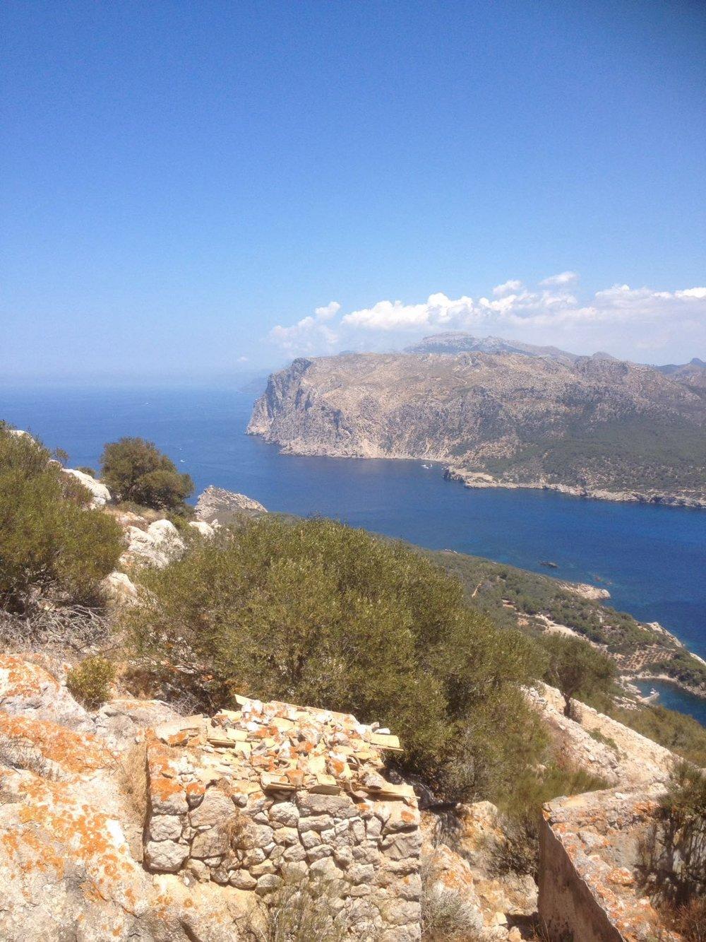 Looking back towards Mallorca from Dragonera