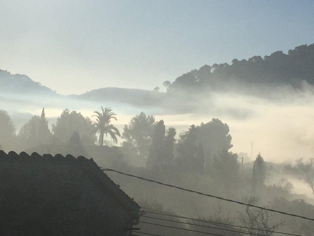 Morning mist en-route to S'Arraco ( Dec 16)