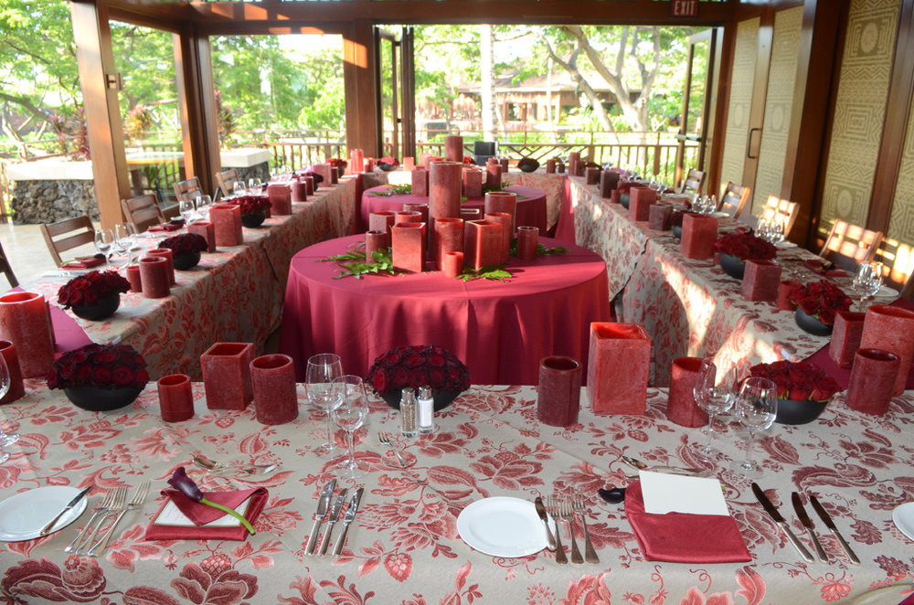 Four Season Hualalai for Corporate Dinner