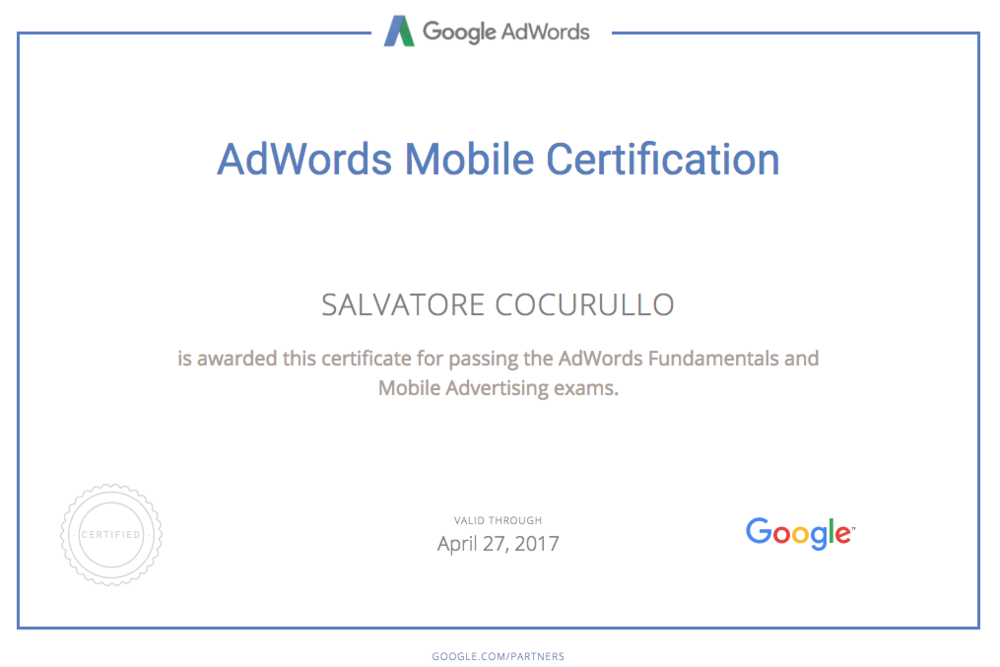 Certificazione-adwords-search-Cocurullo-Salvatore