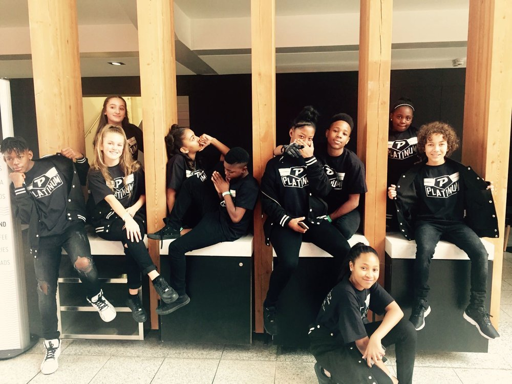 Our Dancers giving a cheeky pose before performing